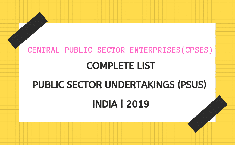 Public sector companies in India