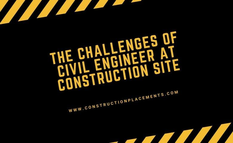 problems of civil engineer at construction site.